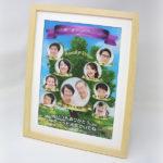 還暦、古希、喜寿のお祝いや結婚式のご両親への贈り物に!動くファミリーツリー【A4】12,000円(税込・送料込)
